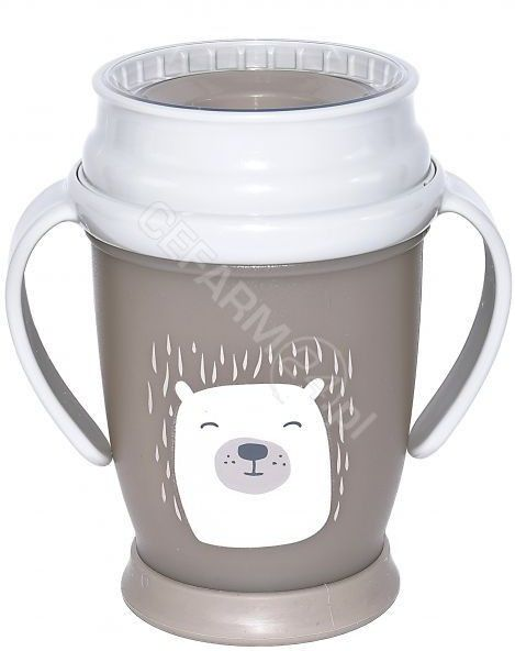 Lovi Kubek 360  Buddy Bear mini 1/600 szary, 210 ml