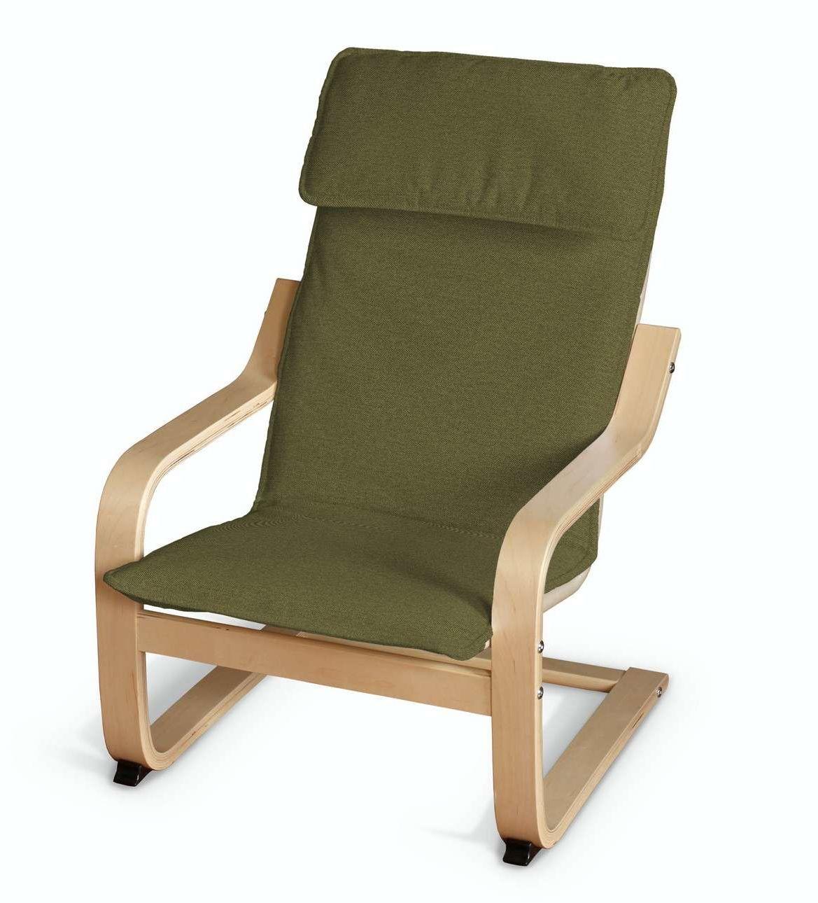 Poduszka na fotelik dziecięcy Poäng, oliwkowa zieleń, fotelik dziecięcy Poäng, Etna