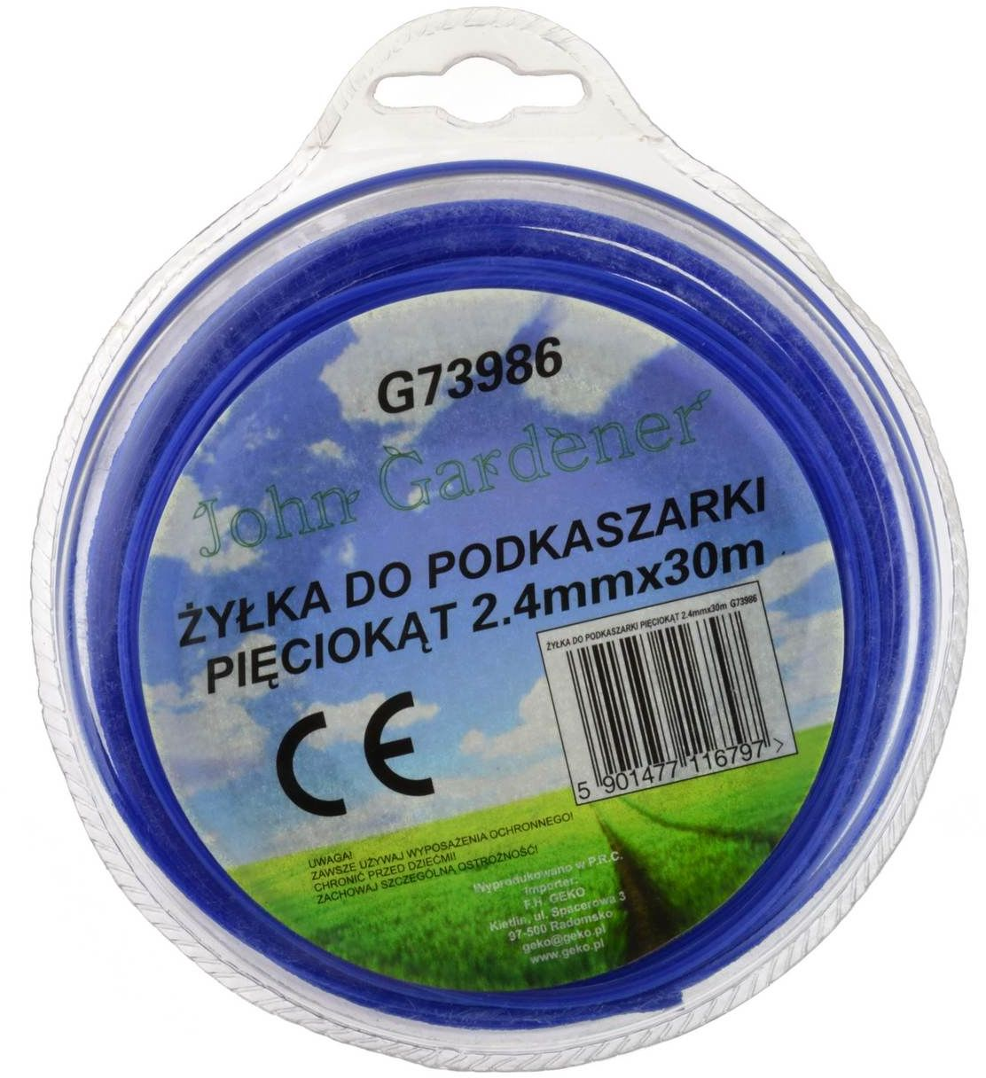 Żyłka do podkaszarki sześciokąt 2,4mmx30m (G73986)