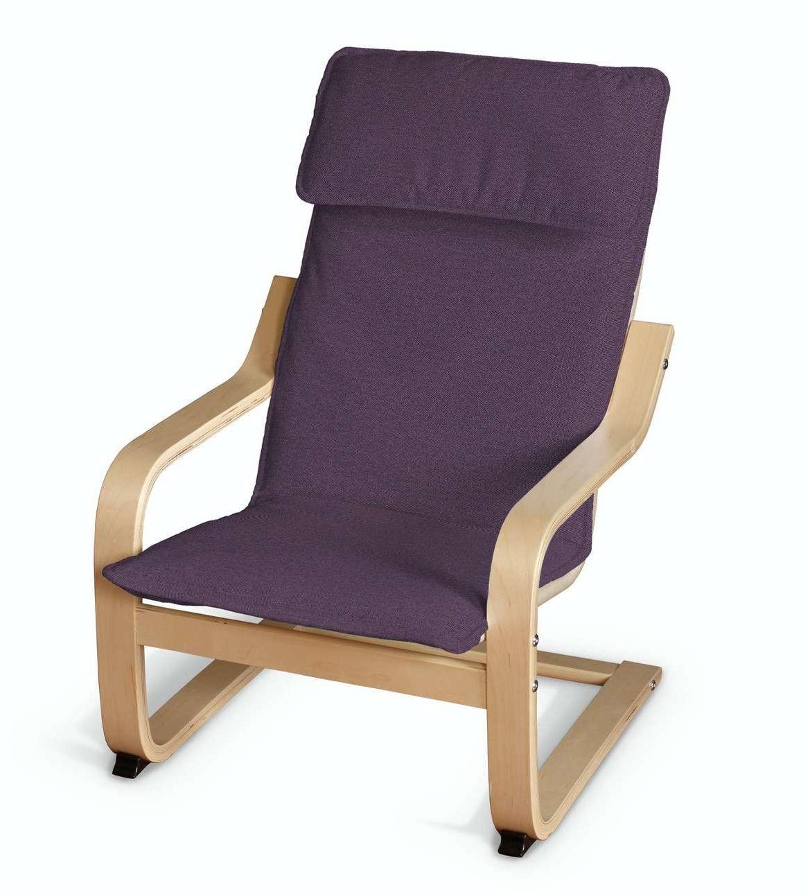 Poduszka na fotelik dziecięcy Poäng, fioletowy, fotelik dziecięcy Poäng, Etna