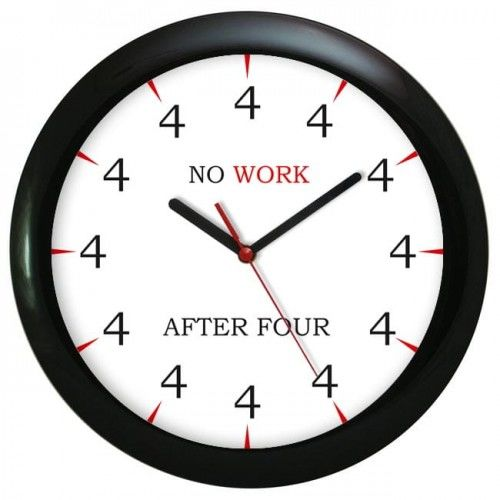 Zegar ścienny czarny no work
