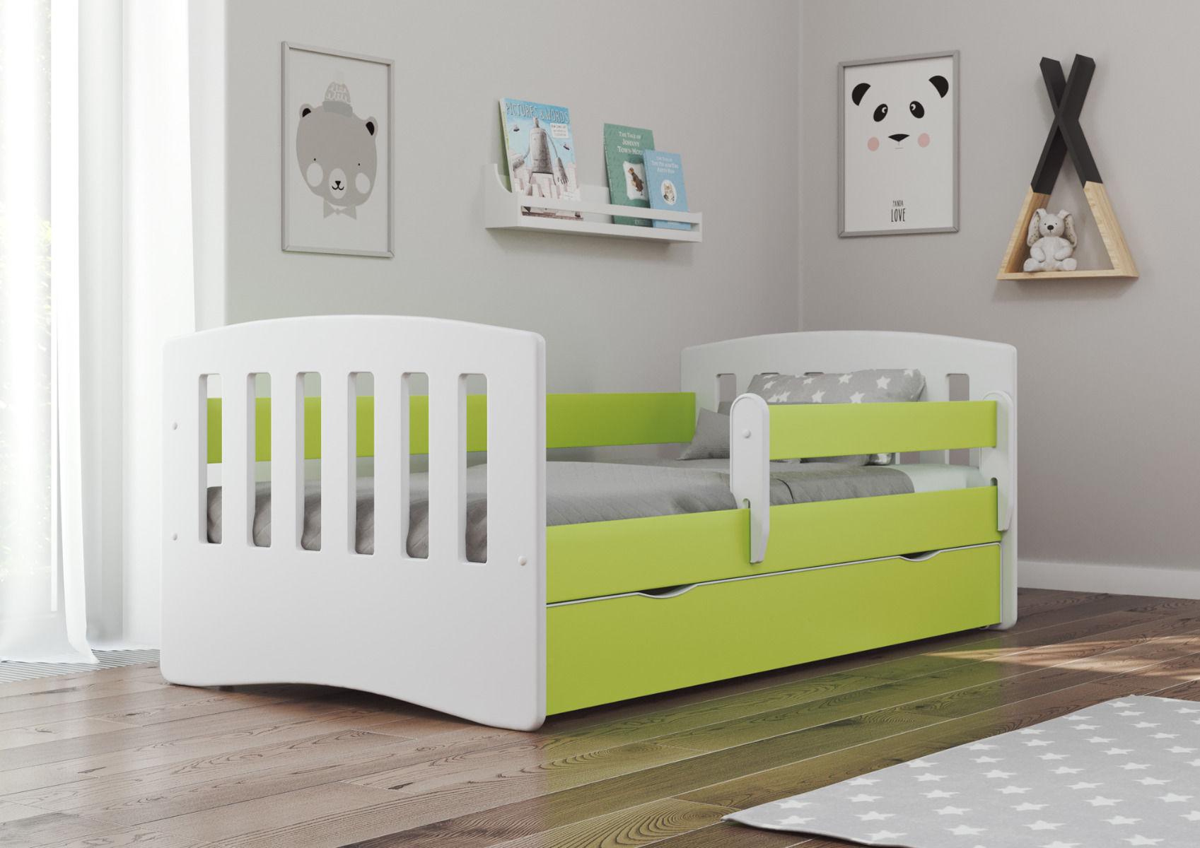 Łóżko dziecięce CLASSIC 1 180x80 zielone