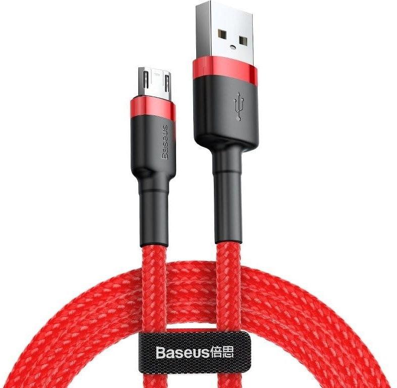 Kabel Micro USB Baseus Cafule 2.4A 1m (czerwony)