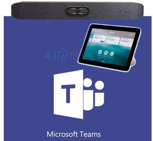 Polycom Studio X 30 + Poly TC8 wideokonferencje Microsoft Teams