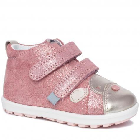 Bartek Baby Mini First Steps 717340002 półbuty profilaktyczne trzewiki skórzane, dla dziewczynek róż złoty