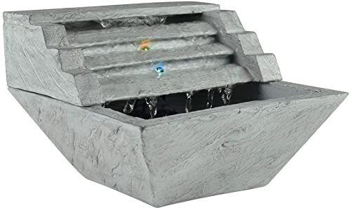 Zen''Light SCFR19-C1 fontanna pokojowa, żywica syntetyczna, szara, 23 x 23 x 16 cm
