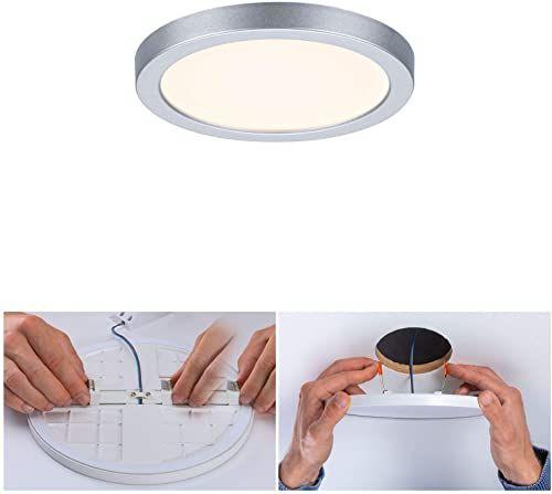 Paulmann 93033 LED panel do zabudowy Areo VariFit IP44 3000 K 118 mm okrągły wraz z 1x8 W lampa sufitowa chromowana matowa lampa sufitowa tworzywo sztuczne lampa łazienkowa