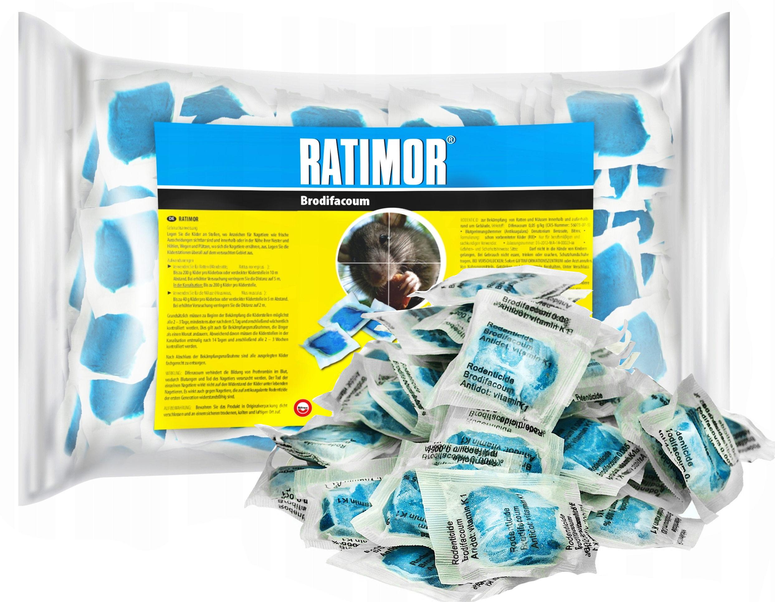 1kg Najmocniejsza trutka Ratimor brodifakum.