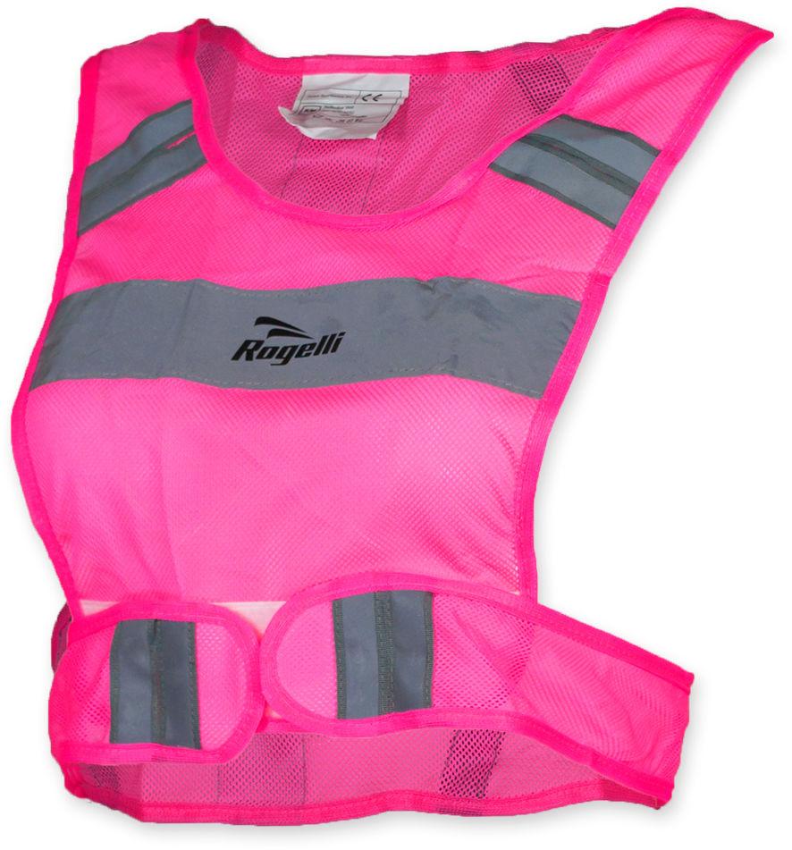 ROGELLI SS15 RUN - MANHATTAN - kamizelka odblaskowa, kolor: różowy Rozmiar: L-XL,rogelli-manhattan-pink