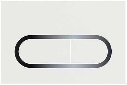 Ravak przycisk do WC Chrome biały X01455