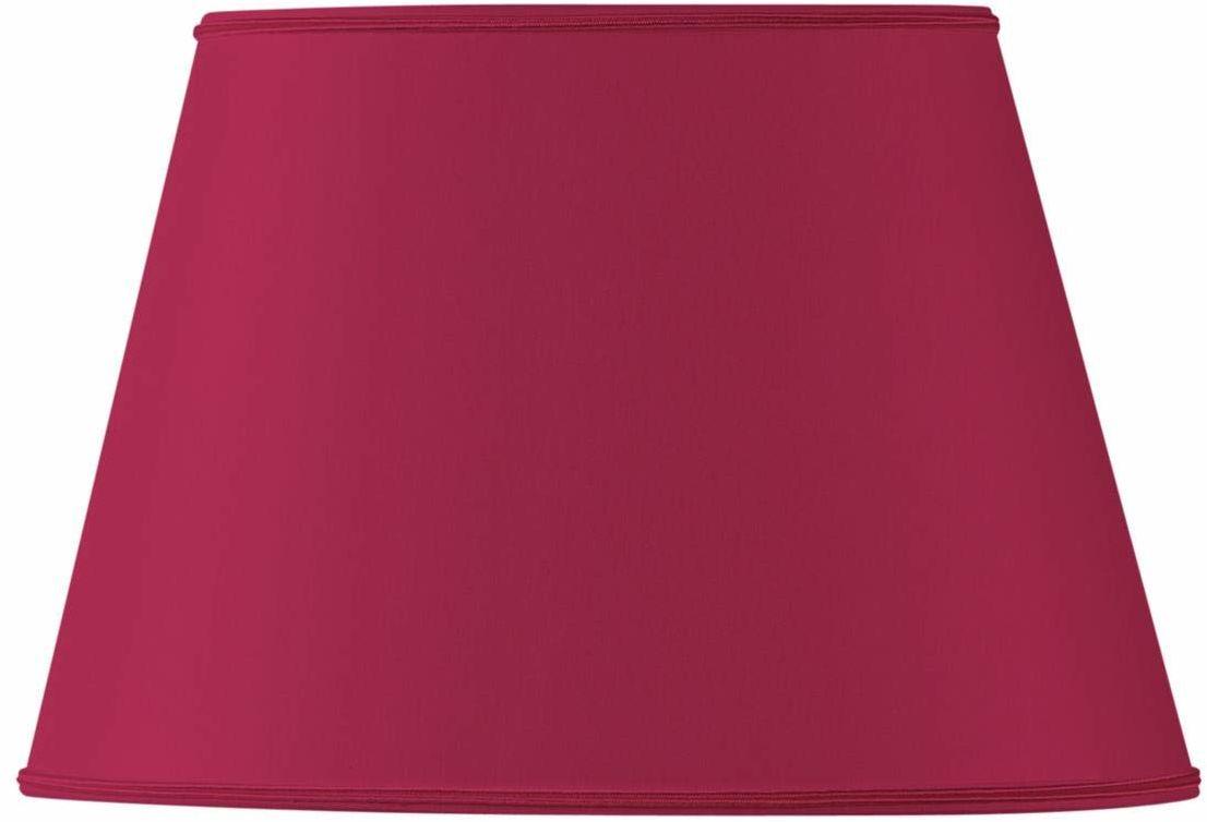 Klosz lampy owalny, Ø 25 x 16,5 x 15,5 x 10,5 x 16,5 cm, bordowy czerwony