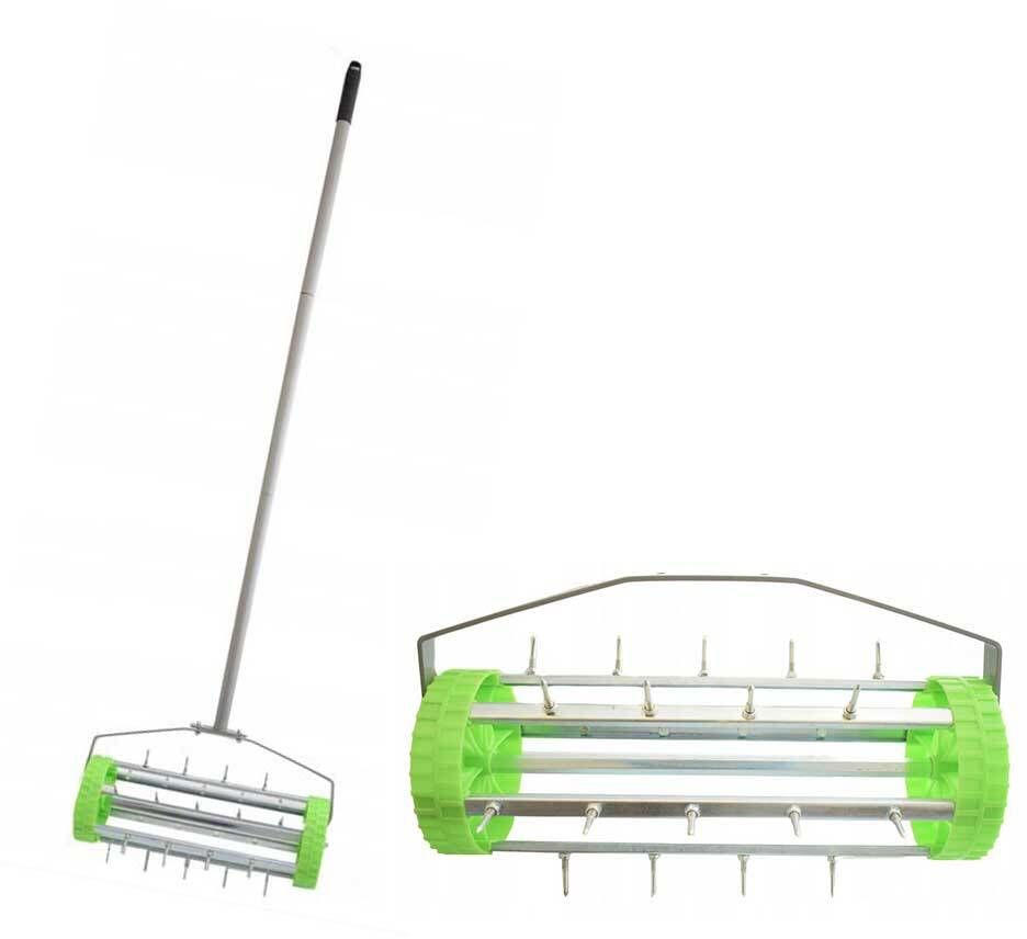 Aerator ręczny do trawnika 420mm wałek z kolcami (8931)