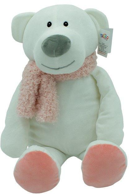 Maskotka Niedźwiedź Kamil różowy szalik 35 cm