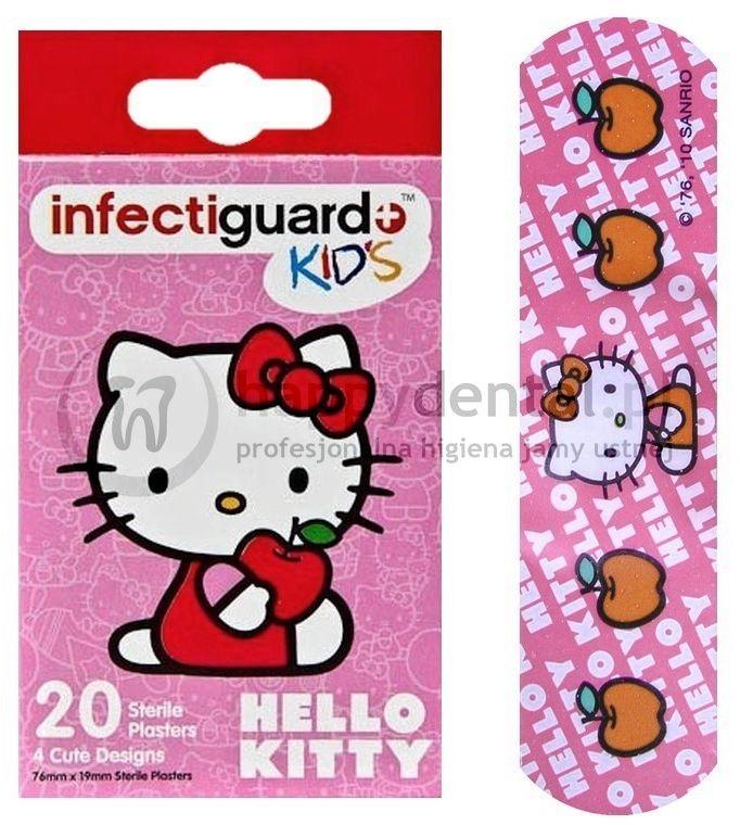 Dr.Fresh HELLO KITTY pudełko z plastrami 20szt. - plastry opatrunkowe z wizerunkiem kotka Hello-Kitty