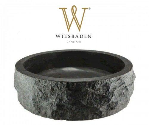 Umywalka nablatowa z kamienia młotkowanego B-STONE 40 cm RĘCZNIE WYKONANY