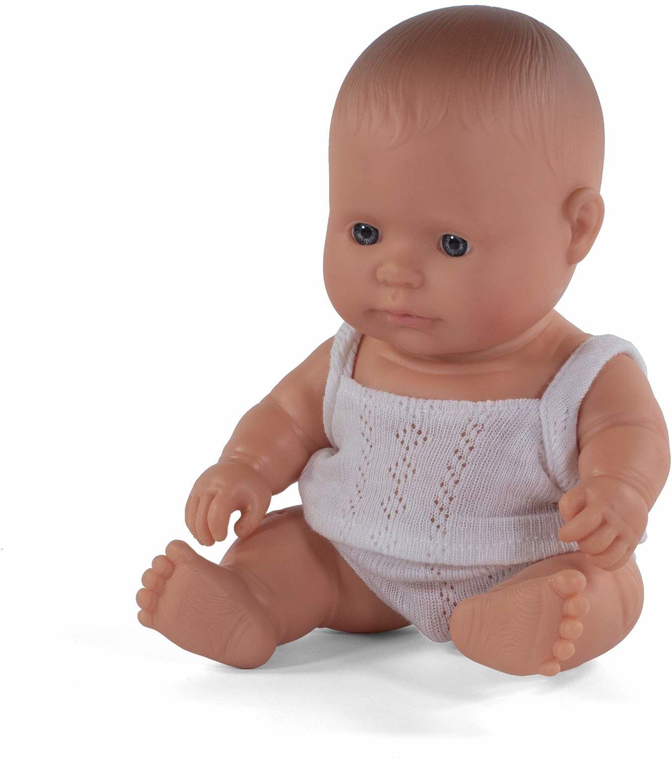 Miniland Miniland31121 lalka dla niemowląt europejski chłopiec mały, wielokolorowa