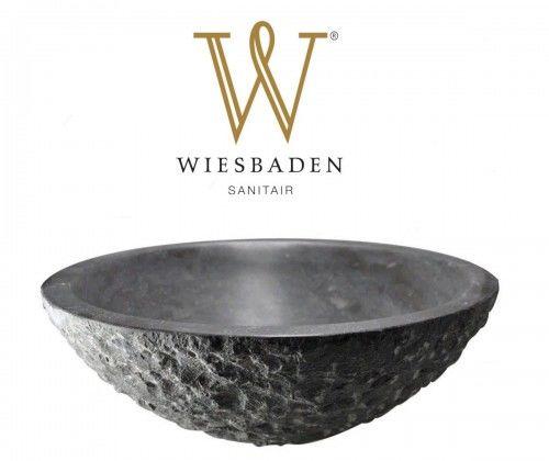 Umywalka nablatowa z kamienia młotkowanego B-STONE 42 cm RĘCZNIE WYKONANY