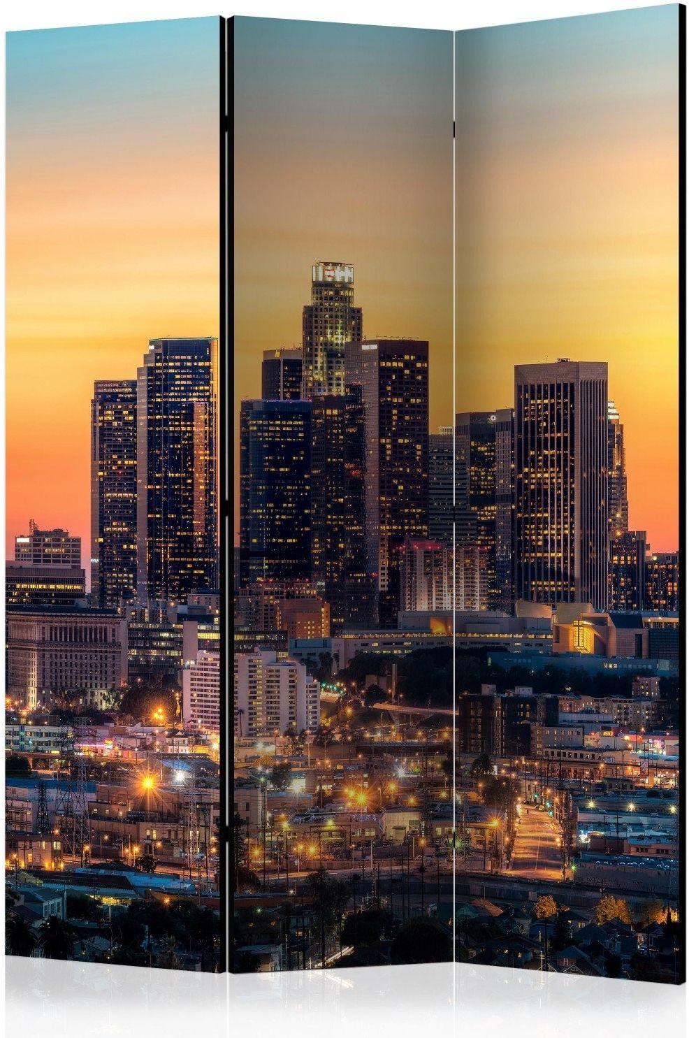 Parawan 3-częściowy - kalifornijski wieczór [room dividers]