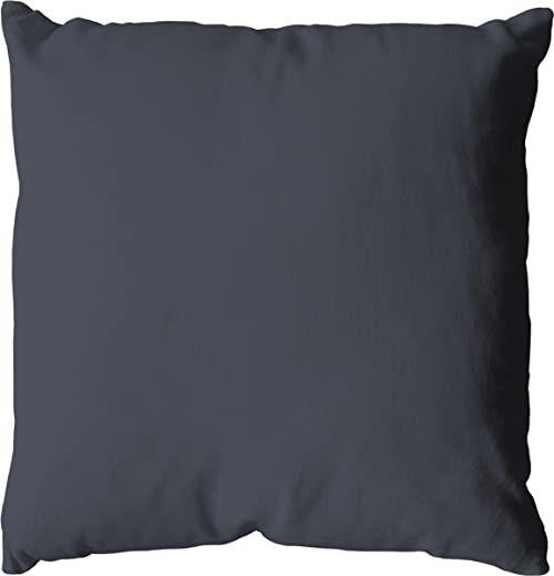 Poduszka, bawełna, 60 x 60 cm, 350 g, ciemnoszara, 60 x 60