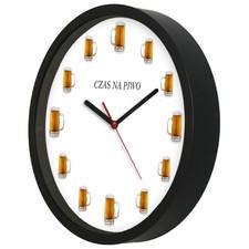 Zegar kwarcowy na ścianę dla piwosza