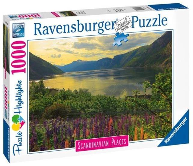 Puzzle 1000 Skandynawski krajobraz 2 - Ravensburger