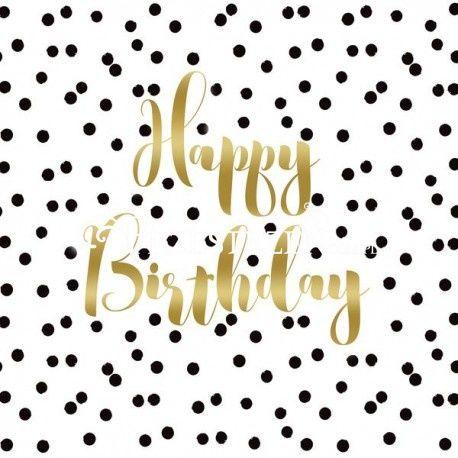 SERWETKI PAPIEROWE - Happy Birthday - (na urodziny)