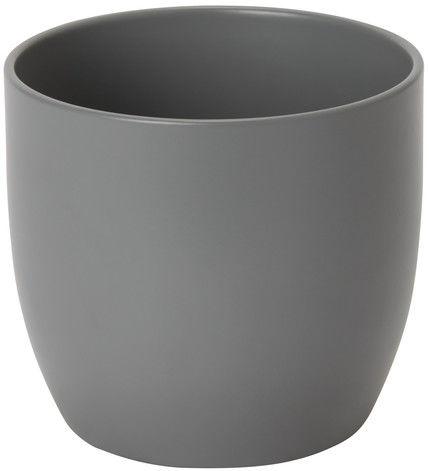 Doniczka ceramiczna GoodHome 12 cm szara