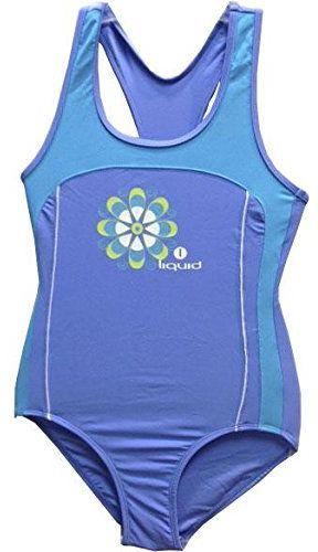 Płynny sport dziewczęcy płynny sport płynny strój kąpielowy dla dziewcząt - niebieski marino, rozmiar 6 NIEBIESKI 8