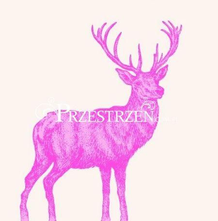 SERWETKI PAPIEROWE - Mod Deer - Szkic z różowym jeleniem