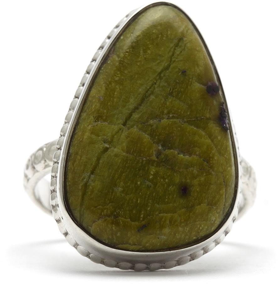 Kuźnia Srebra - Pierścionek srebrny, rozm. 17, Stichtyt, 5g, model