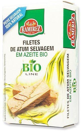 Portugalski filet z tuńczyka w oliwie extra virgin BIO 120g Ramirez