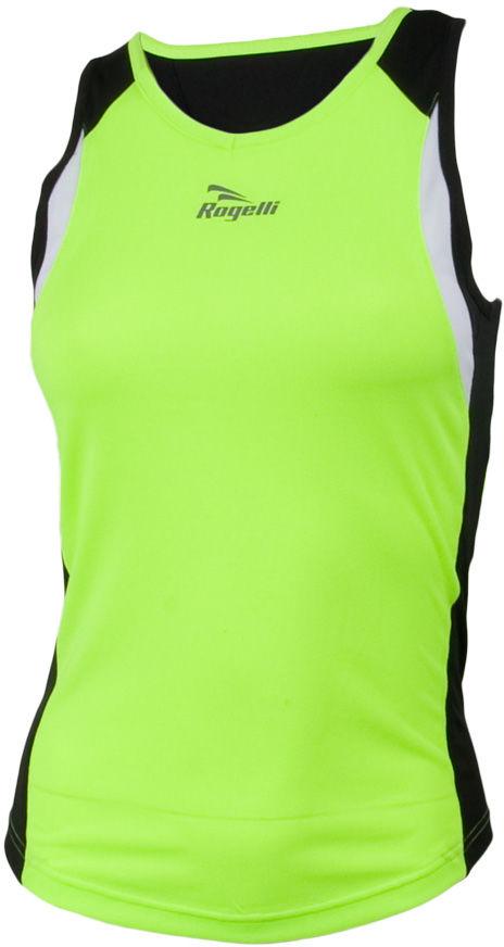 ROGELLI RUN ESTY - ultralekka damska koszulka sportowa, bez rękawków Rozmiar: L,esty-fluor-czar