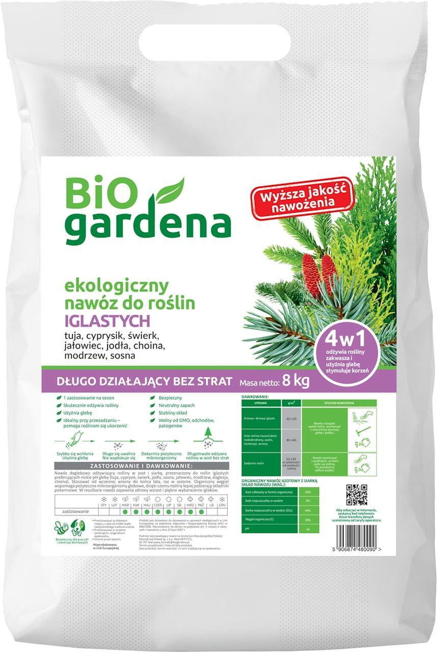 Nawóz do roślin iglastych eko 8 kg - bio gardena