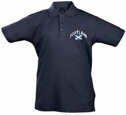 Supportershop Ecosse dziecięca koszulka polo Enfant Rugby Ecosse Rugby dla dzieci, uniseks niebieski niebieski FR : 2XL (Taille Fabricant : 12 Jahre)