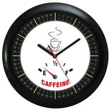 Zegar ścienny czarny czas na kawę