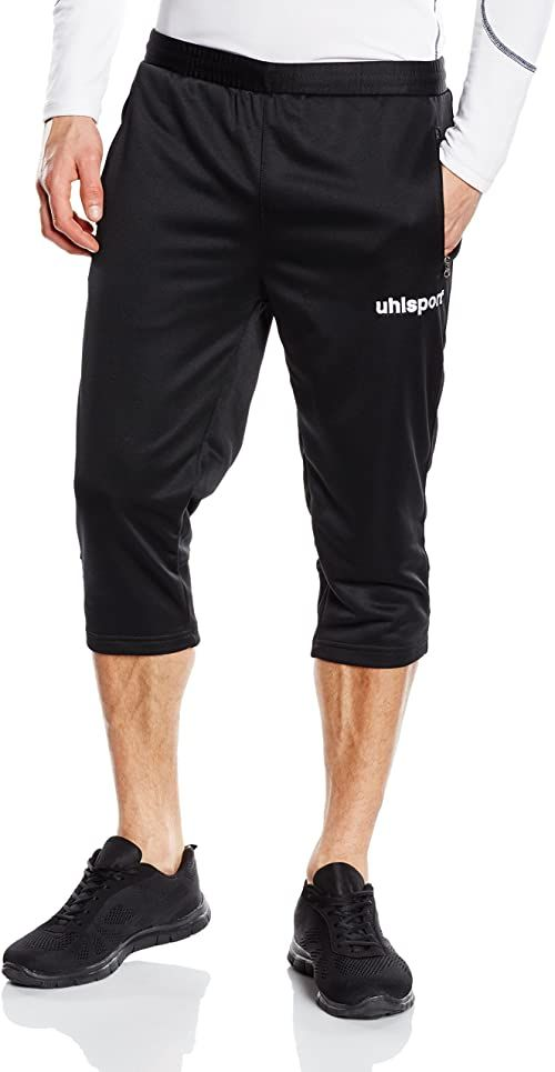 uhlsport Męskie spodnie treningowe Essential 3/4 Czarny XL