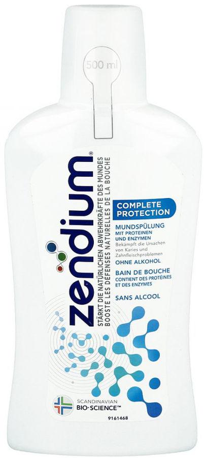 ZENDIUM COMPLETE PROTECTION 500ml - płyn ochronny z enzymami do codziennej pielęgnacji jamy ustnej wspomagający naturalne właściwości śliny