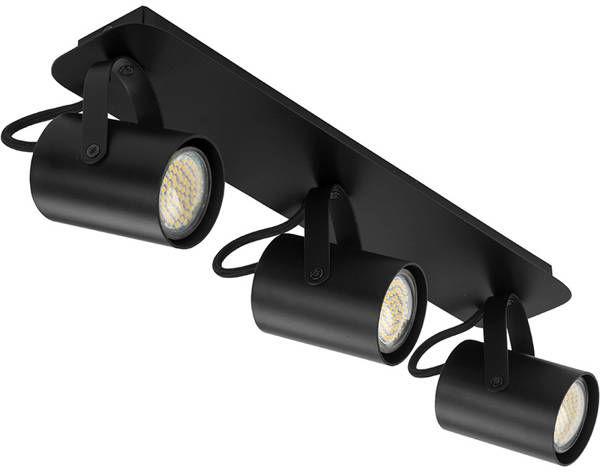 Nowoczesna lampa sufitowa plafon KAMERA 3 czarny 32557
