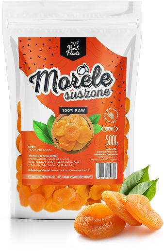 Real Foods - Morele Suszone 1000g