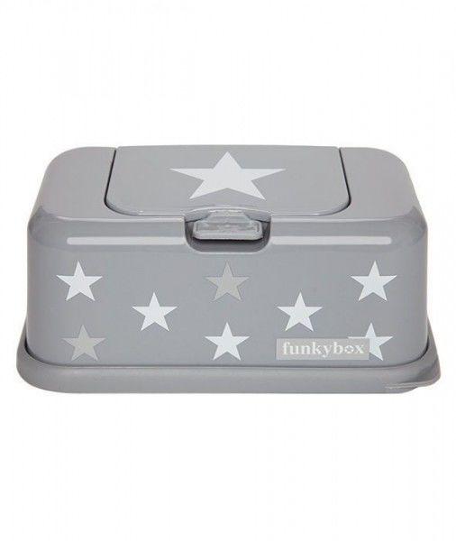 Funkybox - Pojemnik na Chusteczki Grey White Star