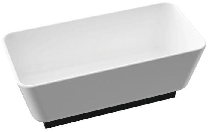 Marmorin Balta wanna wolnostojąca z czarnym panelem 155x74 cm biały połysk PW0090315500000003
