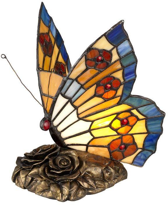 Lampka dekoracyjna w kształcie motyla Tiffany QZ-OBUTTERFLY-TL - Elstead