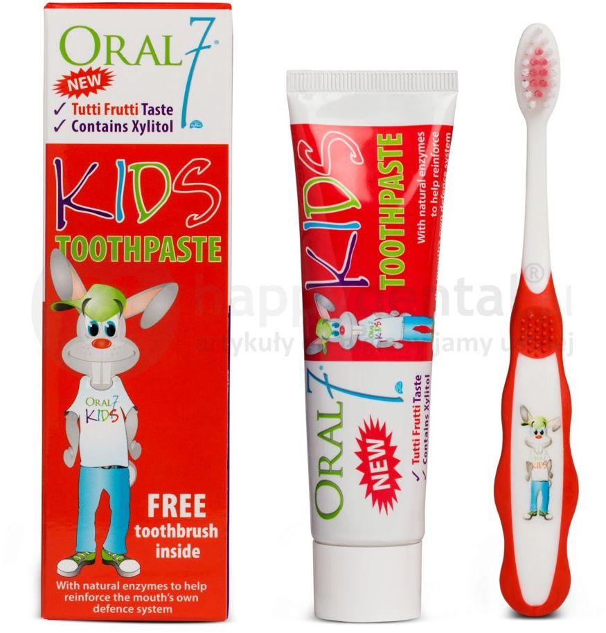 ORAL7 KIDS - pasta do zębów dla dzieci + szczoteczka do zębów - 50ml