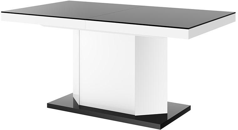 Rozkładany stół biało - czarny połysk - Walder 3X