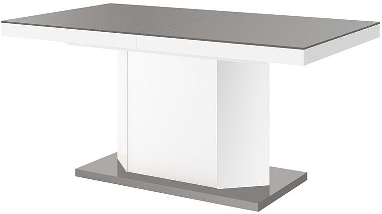 Rozkładany stół biało - szary połysk - Walder 3X
