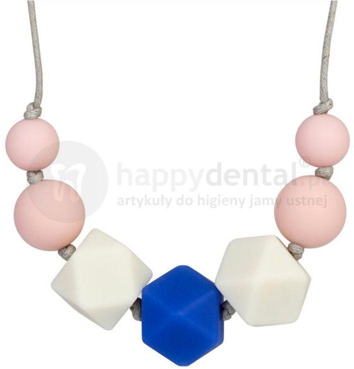 SEYSSO BABY BLUE-SAPPHIRE 1szt. - korale na ząbkowanie - ozdoba dla mamy i gryzak dla dziecka w jednym - IDEALNY NA PREZENT DLA NOWOCZESNEJ MAMY