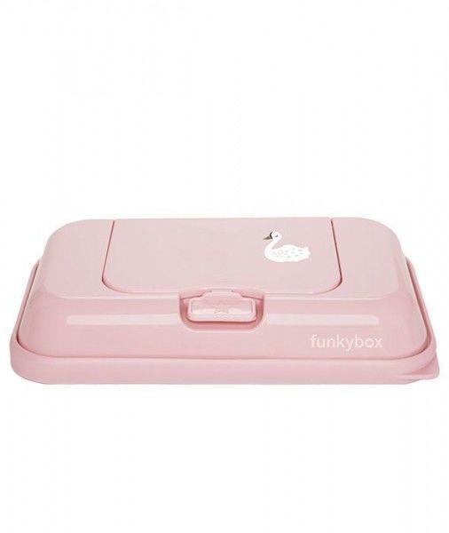 Funkybox - Pojemnik na Chusteczki to go Dark Pink Swan