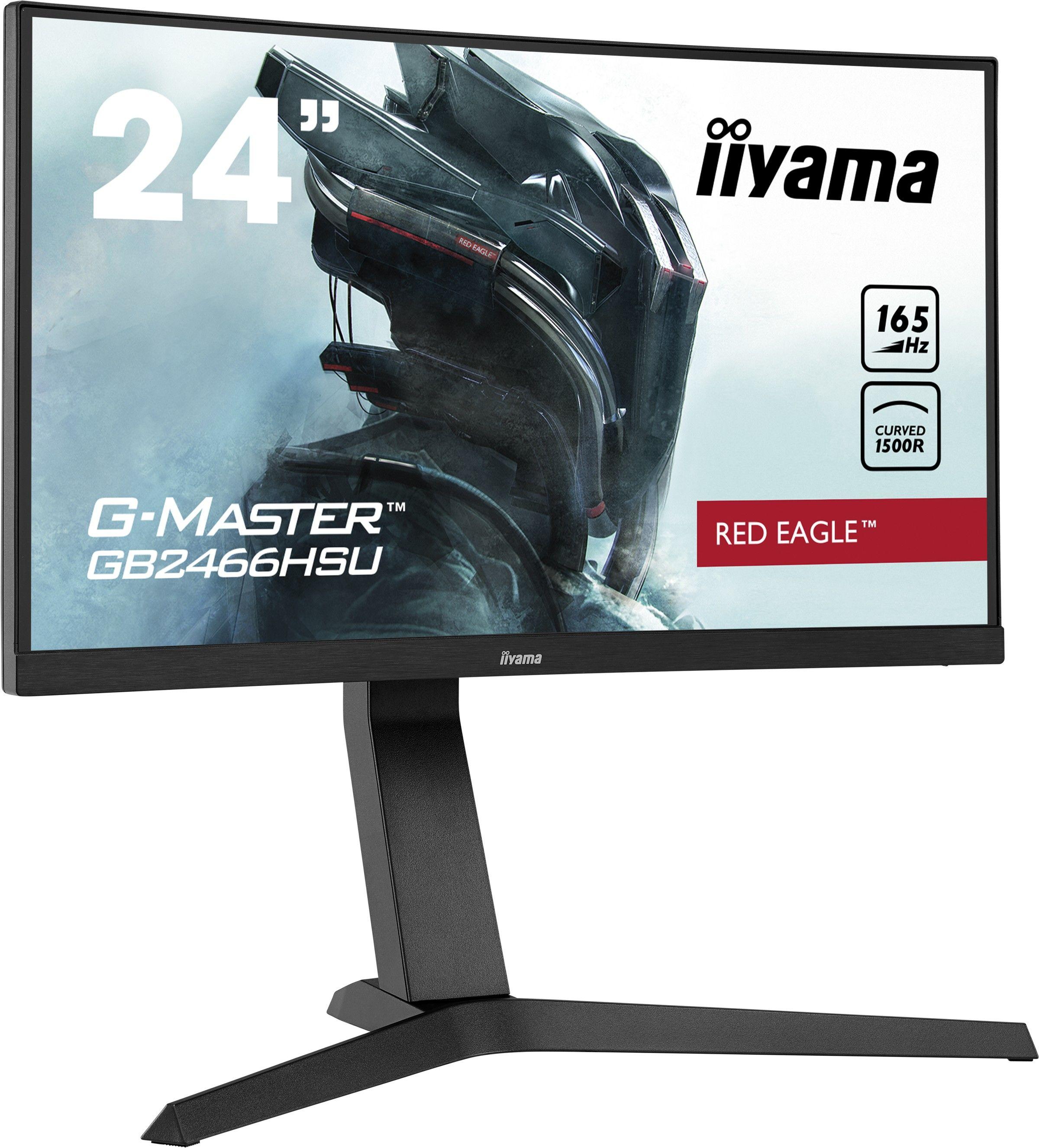 """Monitor iiyama G-Master GB2466HSU-B1 24"""", 1ms, 165Hz, VA, Zakrzywiony ekran, FlickerFree, HAS + WYSYŁKA W 24H GRATIS !! AUTORYZOWANY SKLEP IIYAMA"""