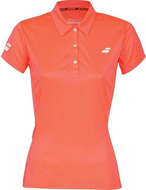 Babolat Core Club koszulka polo, pomarańczowa, biała, XS odzież wierzchnia.