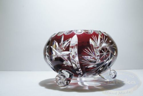 Rubinowa kryształowa Owocarka 10 Młynek